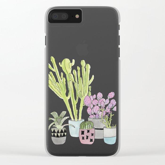 Cactus Clear iPhone Case
