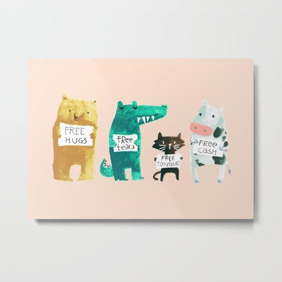 Animal idioms - its a free world Metal Print
