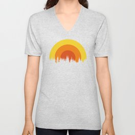 summer mountain Unisex V-Neck
