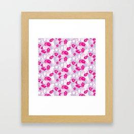 Quince flower pattern 2c Framed Art Print