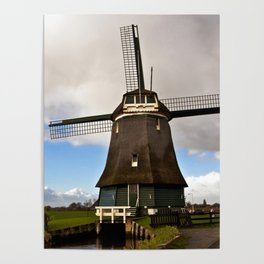 Traditional Dutch Windmill Poster
