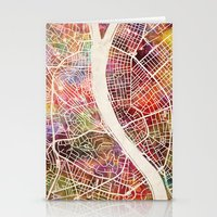 budapest Stationery Cards featuring Budapest  by MapMapMaps.Watercolors