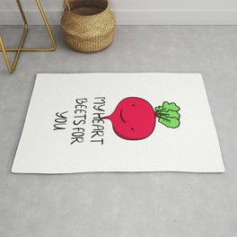 Kawaii vegetable beet for valentines day or your love Rug