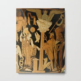 Athena and Poseidon Metal Print