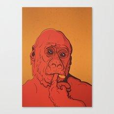 Warm Gorilla Canvas Print