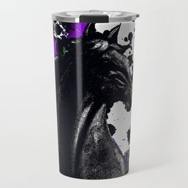 HORSE BLACK AND PURPLE THUNDER INK SPLASH Travel Mug