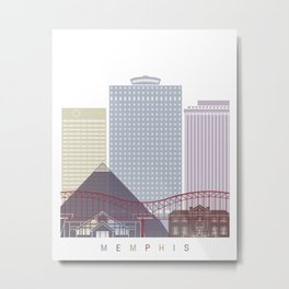 Memphis skyline poster Metal Print
