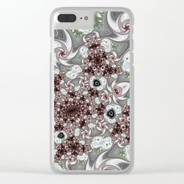Ice Blood Fractal Clear iPhone Case