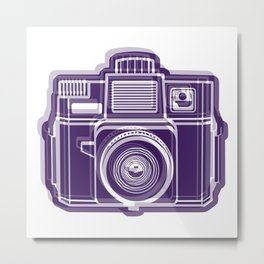 I Still Shoot Film Holga Logo - Deep Purple Metal Print