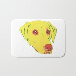 Yellow Labrador Bath Mat