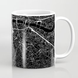 London Black Map Coffee Mug
