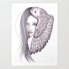 Alone With The Owl Art Print