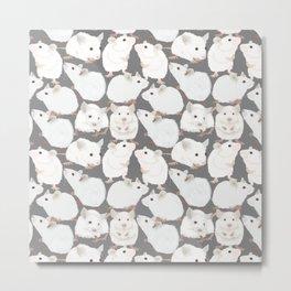 White Mice Metal Print