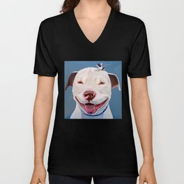 Pit and Mouse Unisex V-Neck