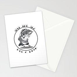 save the sea hug a fish Stationery Cards