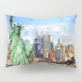 City of New York - Statue of Liberty Pillow Sham