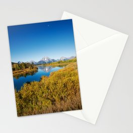 Near the Snake river looking toward Mount Moran in the Grand Tetons. Stationery Cards