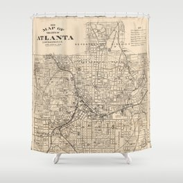 1906 Map of Atlanta, GA Shower Curtain