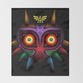 The Mask Of Majora Throw Blanket