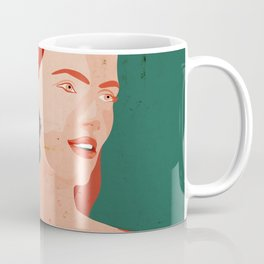 Redhead girl in front of moroccan style motifs Coffee Mug