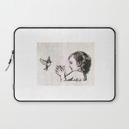Little bird, Little girl Laptop Sleeve