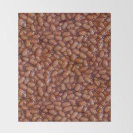 Baked Beans Pattern Throw Blanket