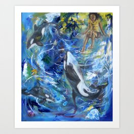 to Dive Art Print