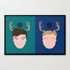 Rust & Marty from True Detective Canvas Print