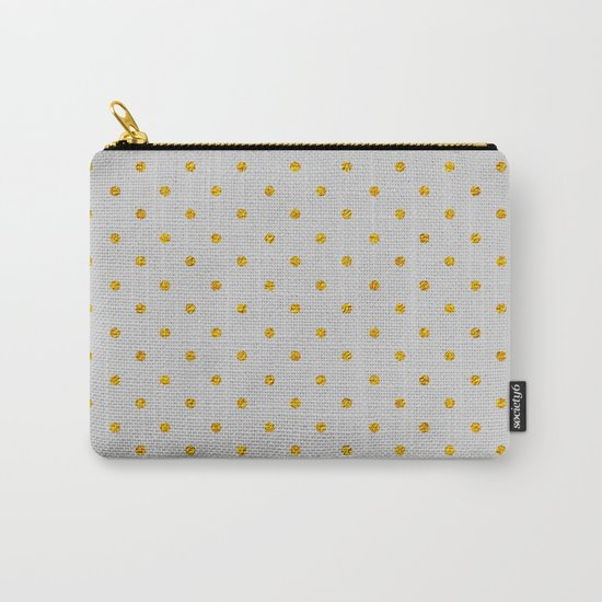 Polka dot dance on grey Carry-All Pouch