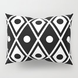 Harlequin Pattern Black & White Pillow Sham