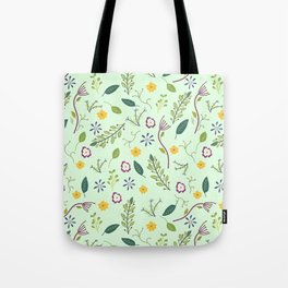 Floral Greenery Pattern I Tote Bag