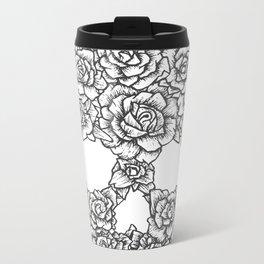 Skull of Roses Metal Travel Mug