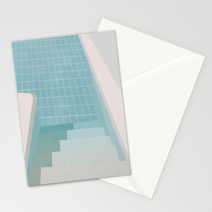 Swimming Pool Summer Stationery Cards