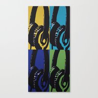 headphones Canvas Prints featuring Headphones by Brianms18
