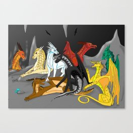 Dragon Wings Of Fire Canvas Print