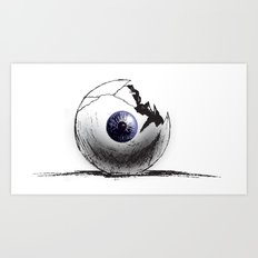 Broken Eye Art Print
