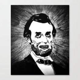 16. Zombie Abraham Lincoln  Canvas Print