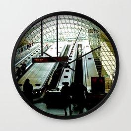 Canary Wharf Underground Station - London Fine Arts Travel Photography Wall Clock