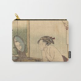 Hokusai, the toilet of a woman- manga, japan,hokusai,japanese,北斎,ミュージシャン Carry-All Pouch