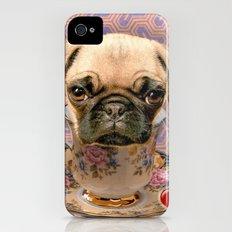 A little pug of tea iPhone (4, 4s) Slim Case