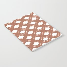 Rustic Red Clay Quatrefoil Pattern Notebook
