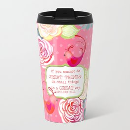 Hipster Birds Paisley Floral Prints Pattern GREAT things Text Travel Mug