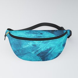 Blue Abstract Geometric Artwork Fanny Pack