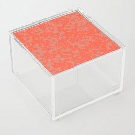 Coral Botanical Pattern - Broken but Flourishing Acrylic Box