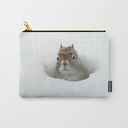 Pop-up Squirrel in the Snow Carry-All Pouch