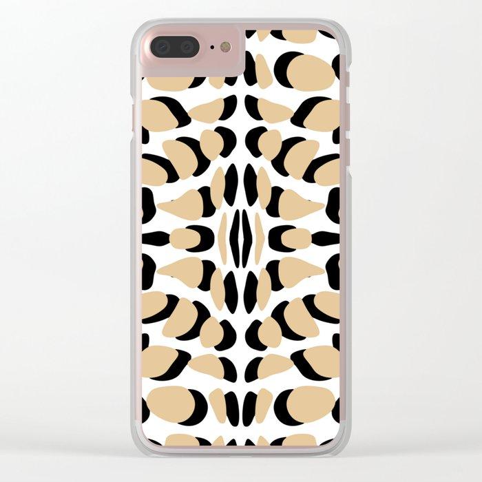 Animal print handmade Clear iPhone Case