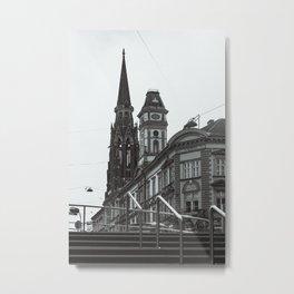 Osijek city center / Croatia / Town / B&W / Monochrome Metal Print