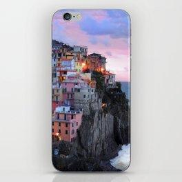 Cinque Terre Sunset, Manarola Italy, Italian Village so0001 iPhone Skin