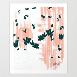 Morning Blooms Art Print