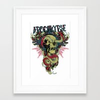 apocalypse now Framed Art Prints featuring Apocalypse now by Tshirt-Factory